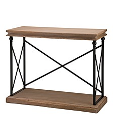 """42.1"""" L French Vintage-Inspired Finish Console Table"""