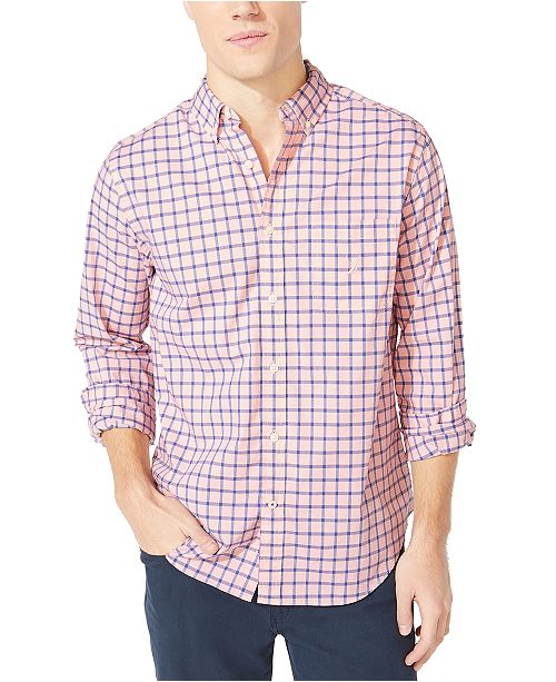 Nautica Men's Plaid Shirt, Created For Macy's