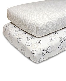 PS by Grey Zoo Animals/Stripes Fitted Crib Sheet 2-Pack