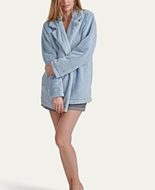 Women's Faux Bunny Lounge Jacket, Online Only