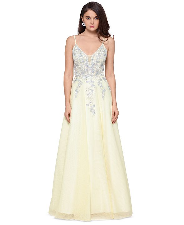 XSCAPE Embellished Ballgown