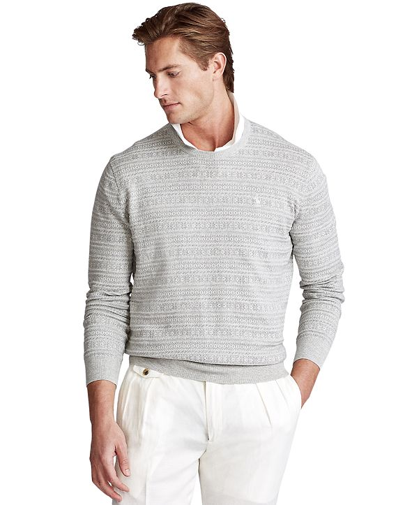 Polo Ralph Lauren Men's Fair Isle Cotton Sweater