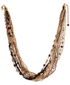 """Multi-Bead Torsade Necklace, 24"""" + 3"""" extender, Created for Macy's"""