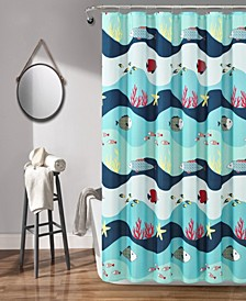 "Sea Life 72"" x 72"" Shower Curtain"