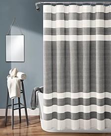 "Cape Cod Stripe Yarn Dyed Cotton 72"" x 72"" Shower Curtain"