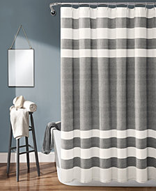 "Cape Cod Stripe Yarn Dyed Cotton 72"" x 72"" Shower Curtain"
