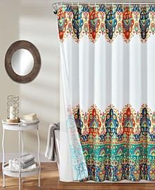 Bohemian Meadow 14Pc Shower Curtain Set
