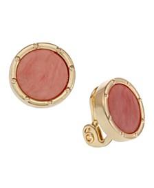 Button Clip Earrings