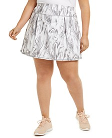 Plus Size Marble-Swirl Skort, Created for Macy's