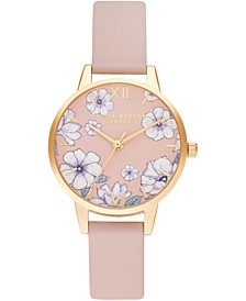 Women's Groovy Blooms Candy Pink Vegan Leather Strap Watch 30mm