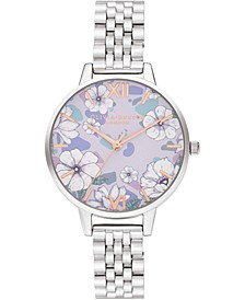Women's Groovy Blooms Stainless Steel Bracelet Watch 34mm