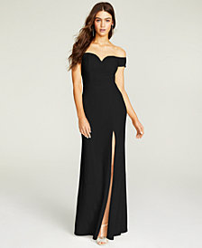 B Darlin Juniors' Off-The-Shoulder Gown
