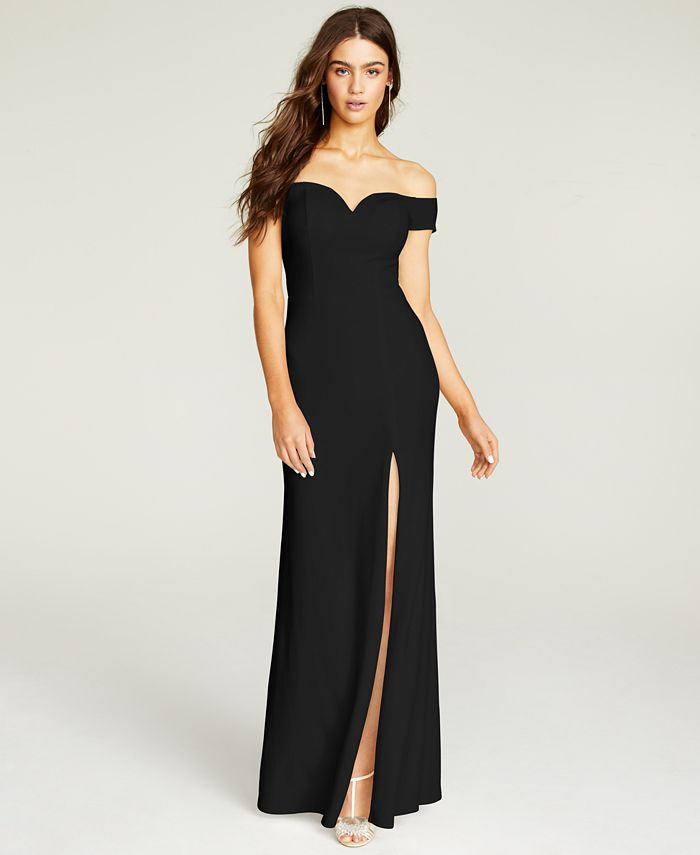 B Darlin - Off-The-Shoulder Gown