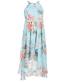 Big Girls Floral-Print Faux Wrap Dress