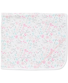 Baby Girls Floral Watercolor Cotton Blanket