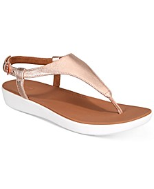 Lainey T-Strap Slingback Thong Sandals