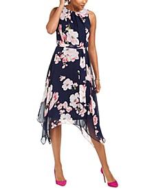 Petite Floral-Print Midi Dress
