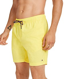 Men's Solid Swim Trunks