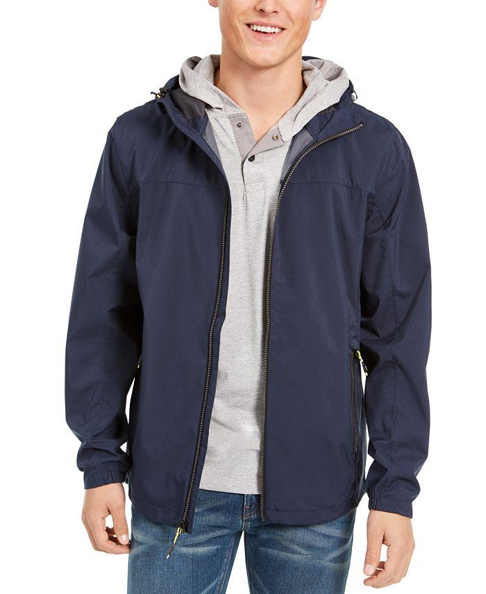 Hawke & Co. - Men's All-Season Lightweight Hooded Rain Jacket