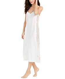 INC Embroidered Sheer Side Panel Nightgown, Created For Macy's