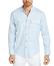 Men's Banded Collar Shirt, Created for Macy's