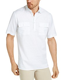 Men's Popover Linen Shirt, Created for Macy's