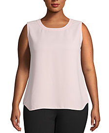 Anne Klein Plus Size Sleeveless Top
