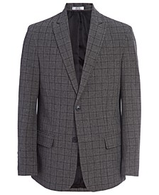 Big Boys Stretch Windowpane Suit Jacket