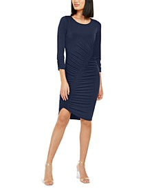 INC Smocked Asymmetrical Midi Dress, Created for Macy's