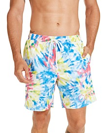 "Men's Logo 7"" Tie-Dye Swim Trunks, Created for Macy's"
