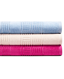 CLOSEOUT! Mainstream International Inc. Basket Weave Cotton Towel Collection