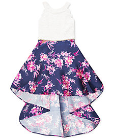 Speechless Big Girls Lace & Floral High-Low Dress