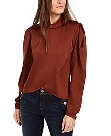 INC Draped-Front Blouse, Created For Macy's