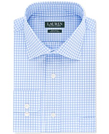 Men's Regular-Fit Non-Iron UltraFlex Stretch Performance Gingham Check Dress Shirt