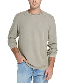 Men's Stonewashed Textured Sweater