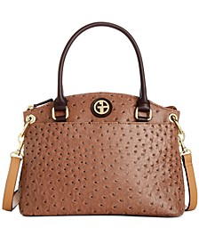 Faux Ostrich Mini Satchel, Created for Macy's
