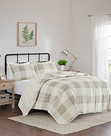 Morrison 3-Piece Full/Queen Reversible Buffalo Check Coverlet Set