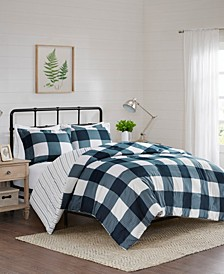Morrison 3-Piece Full/Queen Reversible Buffalo Check Duvet Cover Set