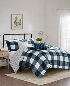 Morrison 5-Piece King/Cal King Reversible Buffalo Check Comforter Set