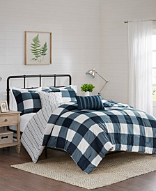 Morrison 5-Piece Full/Queen Reversible Buffalo Check Comforter Set