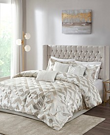 Rousseau Velvet Metallic 7-Piece King Comforter Set