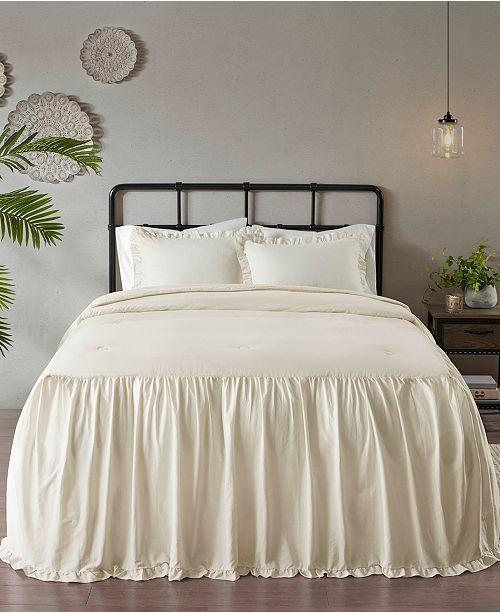 Madison Park Juliet 3 Piece King Cotton Ruffle Skirt Bedspread Set