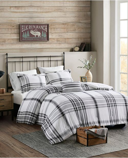 Woolrich Hawkeye Plaid 4-Piece King/Cal King Comforter Set