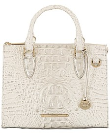 Anywhere Convertible Melbourne Embossed Leather Satchel