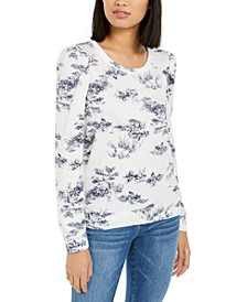 INC Printed Puff-Sleeve Sweatshirt, Created for Macy's
