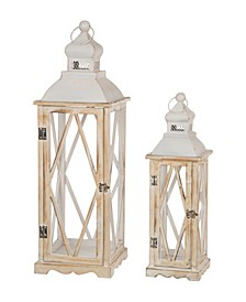 Farmhouse Lanterns, Set of 2