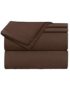 Premier 1800 Series 3 Piece Deep Pocket Bed Sheet Set, Twin