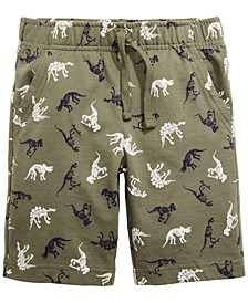 Little Boys Dino Knit Shorts, Created for Macy's