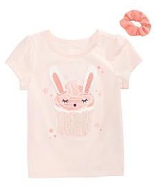 Toddler Girls Bunny Cupcake T-Shirt with Scrunchie, Created for Macy's
