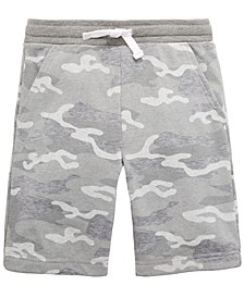 Little Boys Heather Camouflage Knit Shorts, Created For Macy's